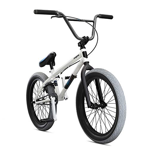 Mongoose Legion L40 Freestyle BMX Bike Line for Beginner-Level to Advanced Riders, Steel Frame, 20-Inch Wheels, White