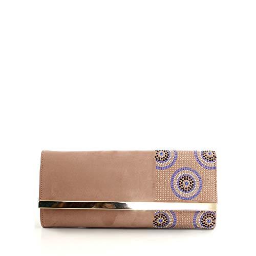 El Caballo Bolso Glitter de Fiesta Noche clitter para Mujer, Rosa, 29x18x2 cm