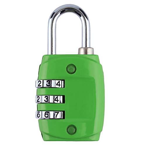 deYukiko Zinklegierung Sicherheit 3 Kombination Reise Koffer Gepäck Code Lock Vorhängeschloss
