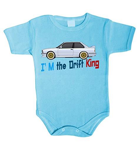 Body pour bébé I am the Drift King King Roi Grenouillère sous-vêtement fille - Bleu - 86 cm (18-24 mois)