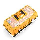 FQ Caja de herramientas-Hogar multifuncional Caja de herramientas Caja de almacenamiento de plástico plegable de tres capas Caja de herramientas de reparación de automóviles Caja de herramientas portá