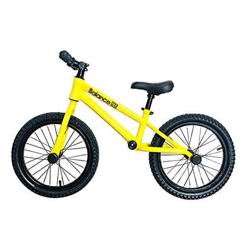 JLXJ Bicicleta Sin Pedales Equilibrio Niños Niñas Bicicleta de Equilibrio para Niño Alto Altura: 120-145 Cm, Rojo/Amarillo Sin Pedal Empujar Caminar Bicicleta con Rueda de 16 Pulgadas, Carga: 80kg