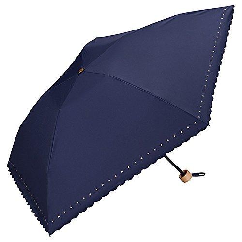ワールドパーティー(Wpc.) 日傘 折りたたみ傘 ネイビー 50cm レディース 傘袋付き 遮光軽量 プチスター ミニ 801-311 NV