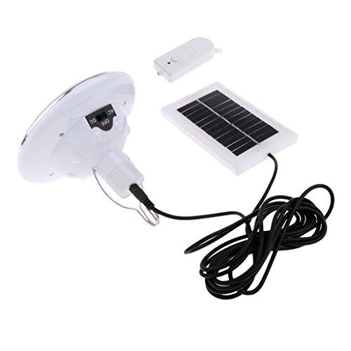 HomeDecTime Luz LED Portátil con Energía Solar Lámpara Solar Al Aire Libre Iluminación de Emergencia Ahorro de Energía Blanco