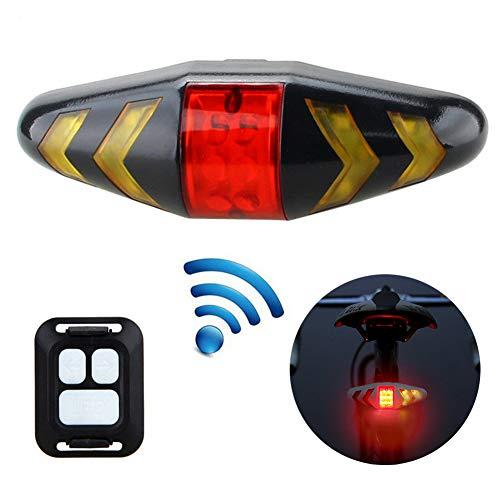 FafSgwq Fernbedienung Fahrrad MTB LED Heckleuchte Blinker Licht Funk Mountainbike Rücklicht Blitzleuchte Schwarz