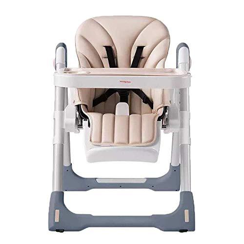 ZHANGYUEFEIFZ Riel cama guardia cama barandilla bebé silla alta plegable con rueda multifunción bebé trona ajustable alimentación silla comedor silla para comedor mesa