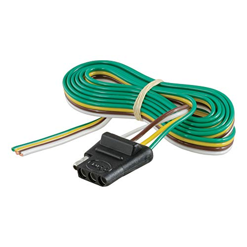 CURT 58040 Vehicle-Side 4-Pin Flat Trailer Wiring Harness with 60-Inch Wires