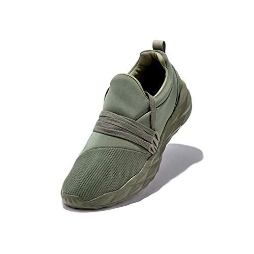 HaoLin Zapatillas de Deporte para Caminar para Mujer, Zapatillas Deportivas Informales Antideslizantes para Gimnasia, para Mujer,Green-37
