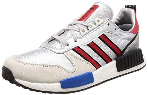Adidas RisingStarxR1 Hombre Running Trainers Sneakers (UK 8.5 US 9 EU 42 2/3, Blue Red Silver Metallic G26777)