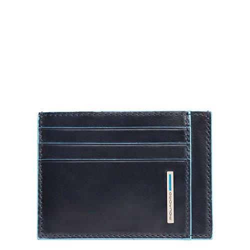 Piquadro Blue Square Porta Carte di Credito con 6 Alloggiamenti per Carte di Credito, 11 cm, 0.27 litri, Blu Notte
