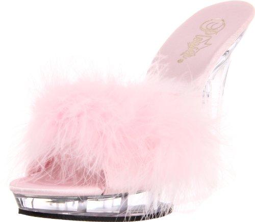 Fabulicious LIP-101-8 B. Pink Satin-Fur/CLR UK 6 (EU 39)