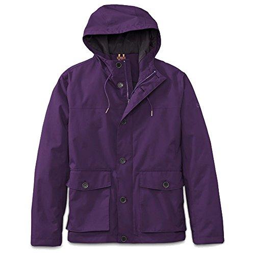 Timberland Herren Regenjacke Jacke Clay Wharf (M, Purple)