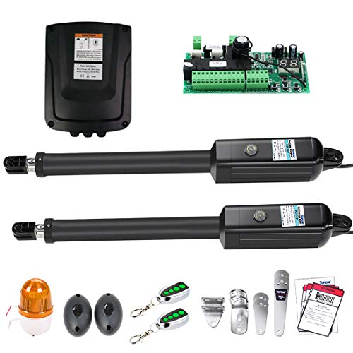 TOPENS KD702 Automatic Gate Opener Kit Light Duty Electric Dual Gate Operator for Dual Swing Gates...