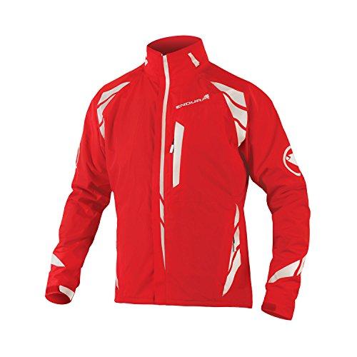 Endura Luminite 4-in-1 Fahrradjacke, Rot, Größe S