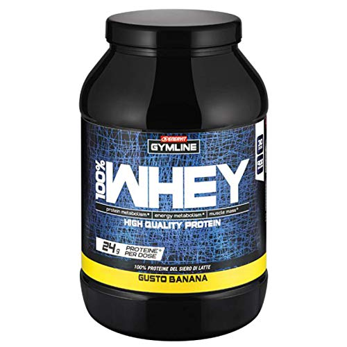 ENERVIT GYMLINE MUSCLE - 100% WHEY PROTEIN CONCETRATE 900gr BANANA