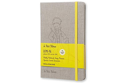 Moleskine 2015-2016 Le Petit Prince Limited Edition Weekly Notebook, 18M, Large, Hard Cover (5 x 8.25)