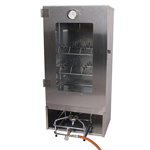 Boni-Shop Räucherofen Gas Set Räucherschrank und Gaskocher zum heissräuchern