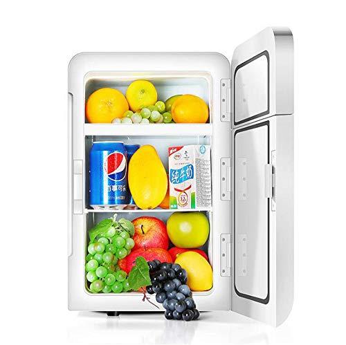 BCLGCF Mini Refrigerador, Refrigerador Compacto De 20 litros/Mini Refrigerador/Enfriador De Vino Aislado con Termostato Digital + Enfriamiento De Doble Núcleo para Automóviles, Viajes por Carretera