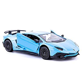 TGRCM-CZ 1/36 Scale Aventador LP700-4 Casting Car Model Zinc Alloy Toy Car for Kids Pull Back Vehicles Toy Car for Toddlers Kids Boys Girls Gift  Blue