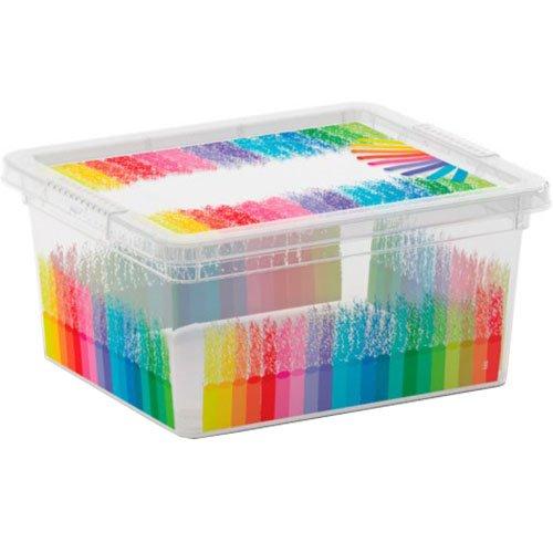 KIS Aufbewahrungsbox C Box Style Colours Arty 2 Liter, Plastik, Mehrfarbig, 19.5 x 16.5 x 9.5 cm