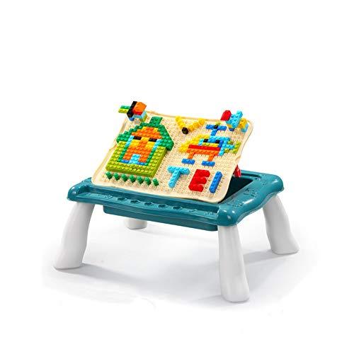 KDOAE Niñito Building Block Juegos Tabla Desarrollar Imaginación 3D Puzzle Juegos de construcción Conjunto de Mesa y Silla (Color : Multi-Colored, Size : One Szie)