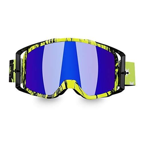 JAMIEWIN ATV Goggles Motorcycle Motocross Dirt Bike Glasses Off Road Racing Mx Riding Goggle for Men Women Adults Youth…