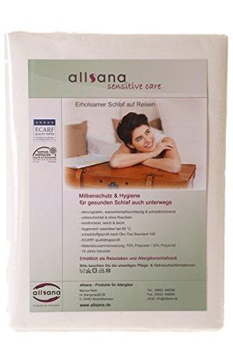 allsana Sensitive Care Allergiker Schlafsack 100x220 cm ungefüttert, Hüttenschlafsack Reiseschlafsack