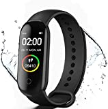 Fitness Tracker, M4 Smart Watch, Activity Tracker Orologio con cardiofrequenzimetro, IP67 Impermeabile Pedometro Sport Braccialetto Salute Fitness