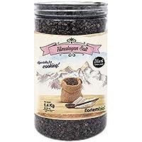 Nortembio Sal Negra del Himalaya 1,4 Kg. Gruesa (2-5 mm). Kala Namak. Sal Gourmet 100% Natural. Con su característico Sabor a Huevo. Cocina Vegana. Sin Refinar. Sin Conservantes. De Punjab Pakistán.