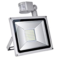 Ankishi 50W led Flood Light Outdoor Motion Sensor, IP65 Waterproof, 3500lumen, Daylight White 6000k, led Security Lights Outdoor, 120-Degree Beam Angle for Garage, Garden, Lawn, Yard and Playground