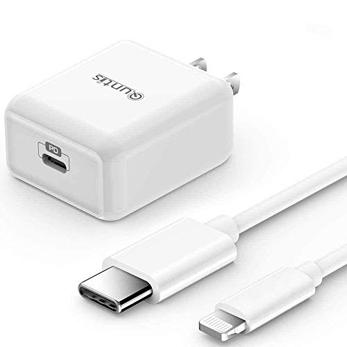 iPhone Fast Charger MFi Certified - Quntis iPhone 12 Fast Charger PD Wall Charging Adapter with 6FT USB C to Lightning Cable for iPhone 12 Mini Pro Max 11 Pro Max XS Max XR X iPad Pro AirPods Pro