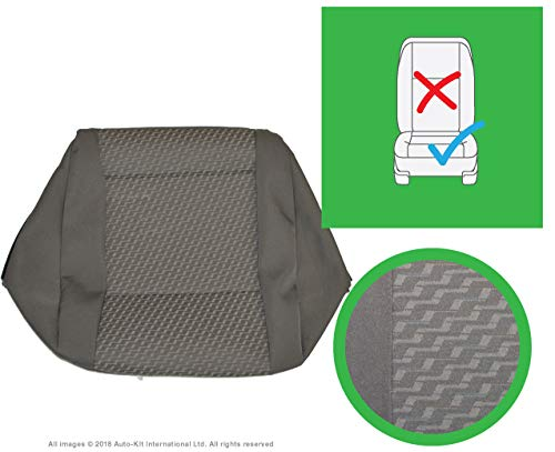 INKA Tassimo Anthracite Front and Rear Seat Covers - to fit VolksWagen Transporter T6, T5.1 Panel Van and Kombi (Front Single Cushion)