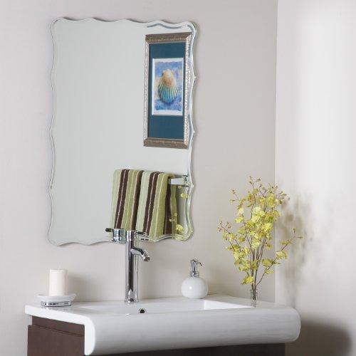 Decor Wonderland Frameless Ridge Mirror