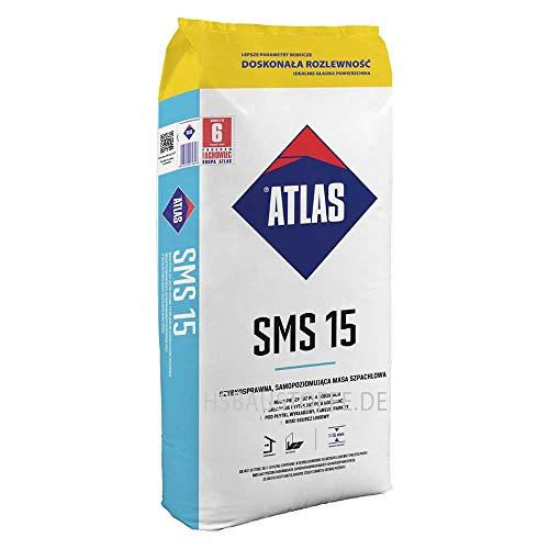 Ausgleichsmasse selbstverlaufend schnellbindend für innenbereich Zementbasis 1-15 mm ATLAS SMS 15 25Kg