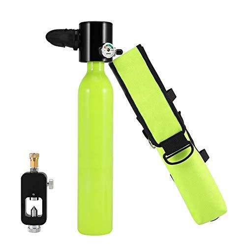 FGKING 0.5L Bouteille d'oxygène de plongée plongée réservoir d'air plongée sous-Marine respirateur Recharge Adaptateur plongée en apnée équipement de Respiration avec Pochette de Protection
