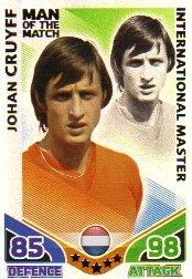 Match Attax ENGLAND Man of the Match HOLLAND Cruyff [Toy]