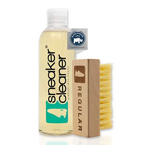 Sneaker Cleaner - Starter-Reinigungsset für Schuhe, 250ml Liquid + eine Regular Bürste für einfache Oberflächen und unempfindliche Materialien