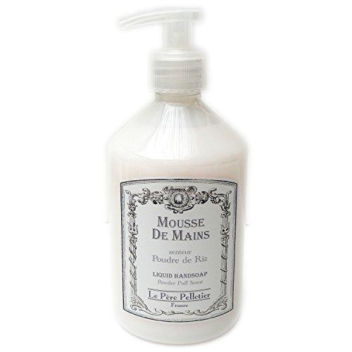 Le père pelletier LPP : Distributeur 500ml Mousse de Mains Parfum - Savon Flacon Pompe pour Salle Bain Cuisine (Poudre de Riz)