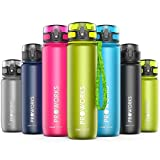 Proworks <span class='highlight'>Leak</span>-<span class='highlight'>Proof</span> <span class='highlight'>Water</span> <span class='highlight'>Bottle</span> | Fast Flow Swing Top Sports Flask ideal for Running, Cycling, Hiking & More | BPA-Free Tritan Plastic Drinks <span class='highlight'>Bottle</span> - 0.5 Litre (18oz) - Green