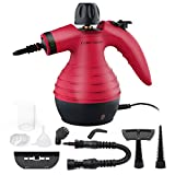 Comforday Handheld Steam cleaner, Natural Pressurized Cleaner Steam With 9 Free Accessories, Red