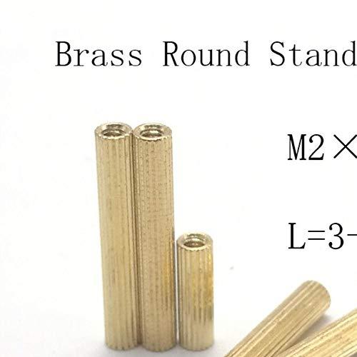 50st M2 * LL = 3 mm tot 30 mm 2 mm draad messing ronde afstandhouder Spacer vrouwelijk vrouwelijk M2 messing schroefdraad afstandhouder, m2x6