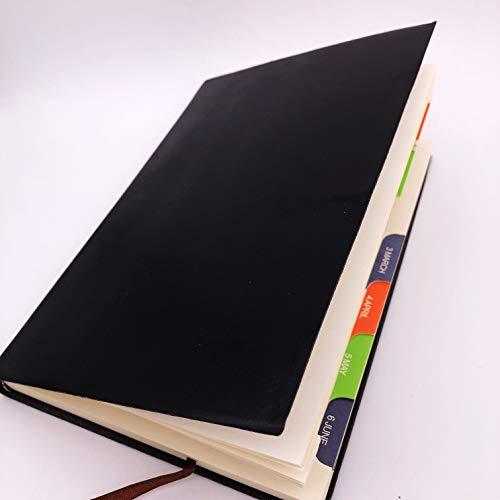 Tagebuch 2020, Hardcover Notizbuch- PU-Leder, A5 Classic Notebook, Premium Dicke Papier, Thanksgiving Weihnachts Valentinstag Geburtstag Jahrestag Geschenk für Freunde (Schwarz)