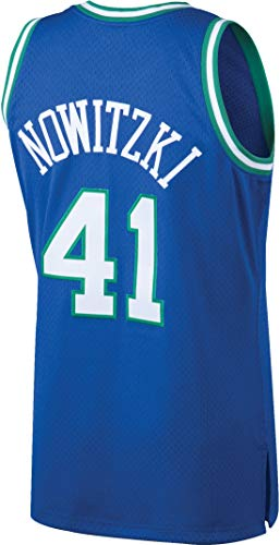 Youth Dirk Nowitzki Dallas Mavericks Throwback Jersey (Youth Medium (10-12)) Blue