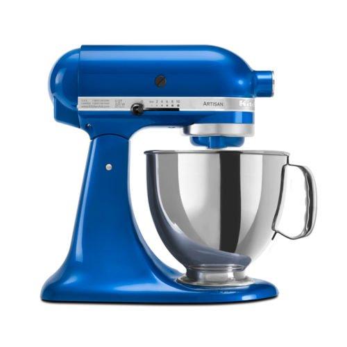 KitchenAid RRK150EB 5 Qt. Artisan Series Stand Mixer – Electric Blue (Renewed)