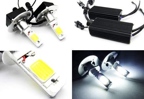 2 x Blanc H3 453 ampoule CANBUS COB LED 40 W 3200LM Phare veilleuses circulation diurnes DRL lampe de brouillard
