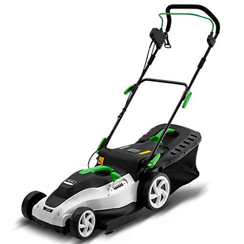 QILIN Electric Lawn Mower Small Household Hand Push Weeder Garden Tool High Power Lawn Mower 220V 1800W 3200RPM Cutting Width 16.5in