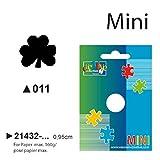 Vaessen Creative Mini Motivstanzer Kleeblatt, Kleiner Motivlocher aus Metall und Plastik, Ausgestanztes Motiv 9,8 x 8,9 mm, zum Basteln mit Papier