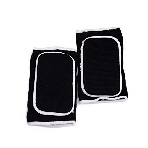 KUKOME Breathable Protective Sponge Elbow Support Elbow Brace One Size (Black)