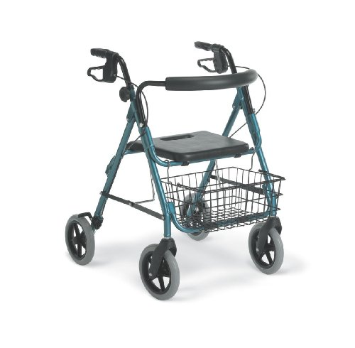 Medline Guardian Deluxe Rollators with Wheels, Blue, 8 Inch