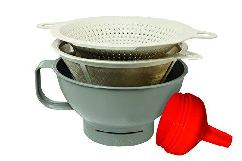 Chefs Planet 130 Multipurpose Filter Funnel Set GrayWhiteRed